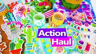 ACTION HAUL 10€ Mai 2018 | Kaktus Papier, Lama Sticker, Sommer Washi Tape | DIY Inspiration deutsch