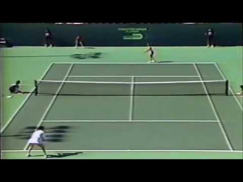 Chris Evert vs Pascale Paradis 1988 Lipton 4th round