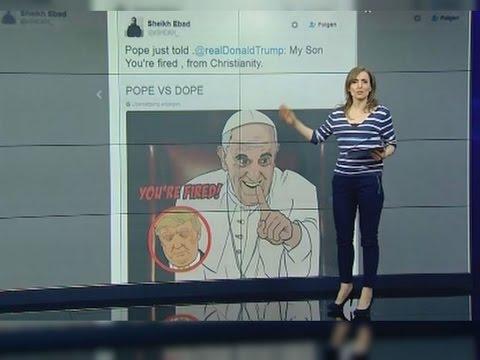 """Papst: """"Donald Trump ist kein Christ - Trump poltert zurück"""