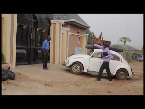 kanayo Locked Out By His New Security Man As He Came Driving 1980 Beetle - Nigerian Comedy Skits