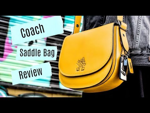 Coach Saddlebag Review The Rare Handbag Unboxing You Need To See Disney X Coach Youtube