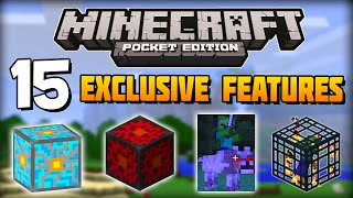 ✔ Minecraft PE - 15 Exclusive Features That Are ONLY in Pocket Edition