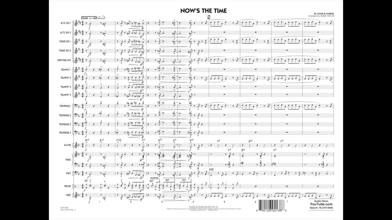 Now's the Time by Charlie Parker/arr. Mark Taylor