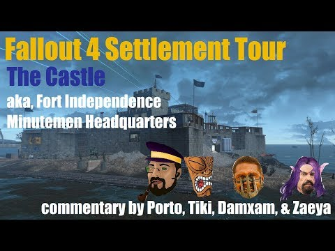 Fallout 4 Settlement Tour: The Castle, aka Fort Independence, w/guided commentary [1080p]