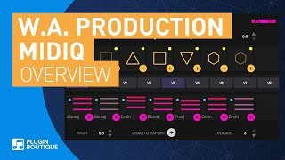 MIDIQ by WA Production | Chord Progression Generator VST Plugin | Tutorial