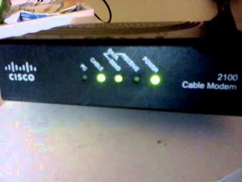 Working Cisco Cable Modem 2100 Youtube