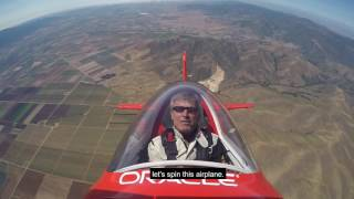 Aerobatic Champion Demonstrates Loops and Spins