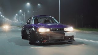 homepage tile video photo for Night Rolling and Morning Drifting | JZX71 | Clinched Flares
