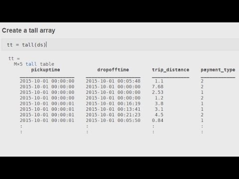 Using Tall Arrays for Big Data in MATLAB