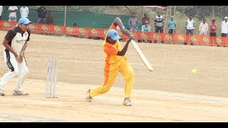 Krishna Satpute batting  in Chiplun
