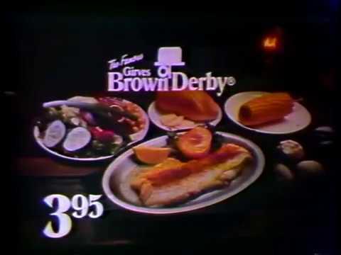Girves Brown Derby  Restaurant 1978 TV Commercial