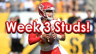 DraftKings Picks Week 3 NFL Fantasy Football Studs!