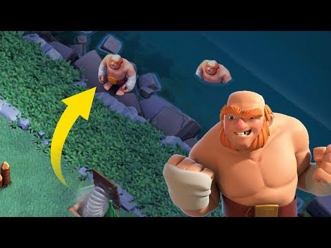 LAUNCH TROOPS INTO THE OCEAN TROLL BASE  | Clash of Clans | Funny Moments and Fails