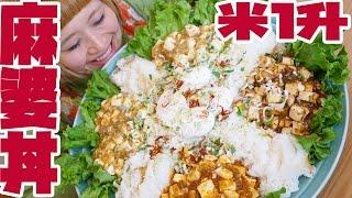 【BIG EATER】OVER 12 Servings! Mapo Tofu RICE BOWL!【MUKBANG】【RussianSato】 thumbnail