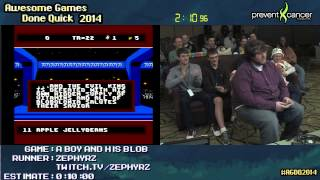 A Boy and His Blob :: SPEED RUN (0:02:10) [NES] Live by Zephyrz #AGDQ 2014