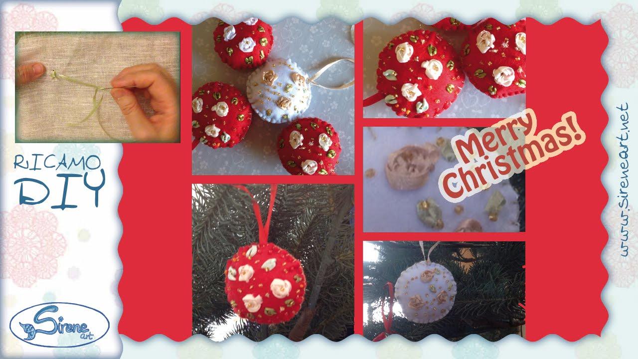 Tutorial Palline Di Natale Con Foto.Tutorial Decorazione Albero Di Natale Pallina Di Pannolenci