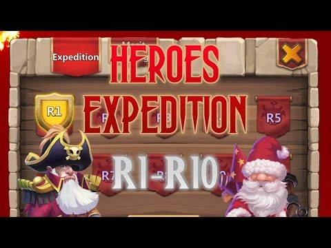 Castle Clash: How To Clear Hero Expeditions R1-R10 (HD)