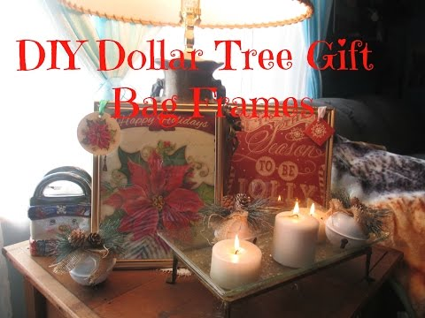 DIY Dollar Tree Gift Bag Frames