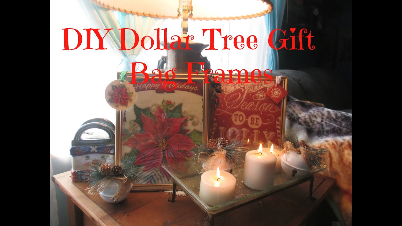 Diy dollar tree gift bag frames youtube
