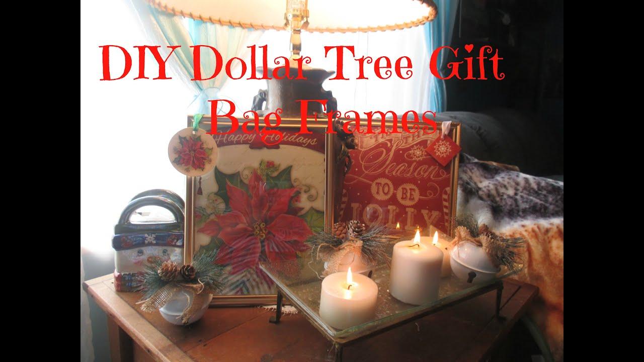 Diy Dollar Tree Gift Bag Frames Youtube