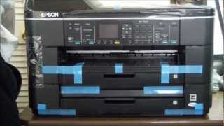 Epson WorkForce WF-7520 Unboxing & Setup