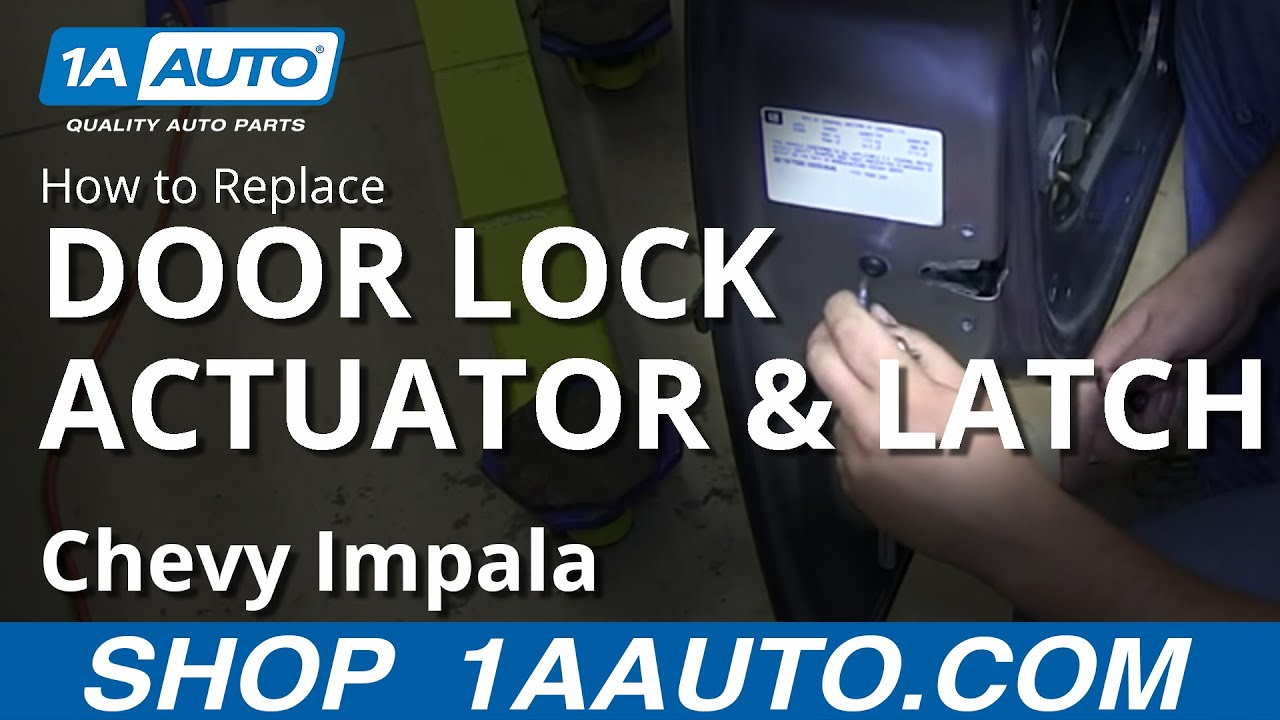 How To Install Replace Front Power Door Lock Actuator Latch 200612 Chevy Impala  YouTube