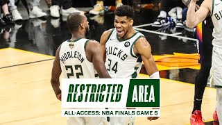 All-Access: NBA Finals Game 5   Bucks Beat Suns, Lead 3-2   Valley Oop   Giannis Postgame Message