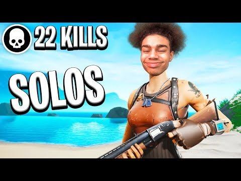 Insane 22 Kill Solo Win on Controller (facecam)