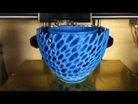 Печать вазы на 3D принтере  FLASHFORGE CREATOR
