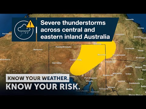 Severe  Weather Update: Severe Thunderstorms Across Central & Eastern Inland Australia, 18 Sept 2020