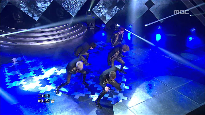 mblaq  this is war    music core 20120204