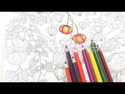 Como Colorir Acerola Paraiso Tropical Youtube