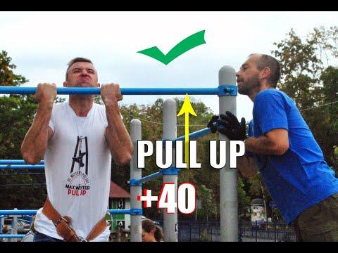 Спорт мотивация.Подтягивание на турнике. Street Lifting/+40 кг/1