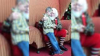 When This Autistic Boy Confessed A Secret To Santa, The Response He Got Left His Mother In Tears