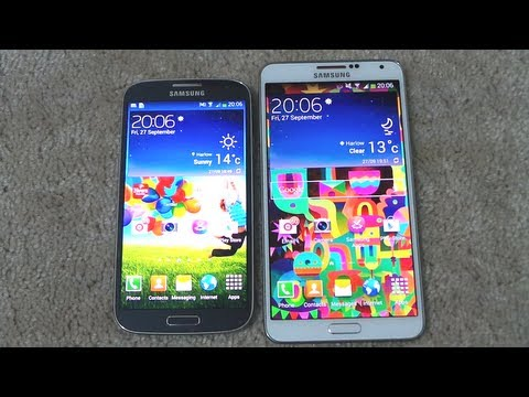 Samsung Galaxy Note 3 Vs Samsung Galaxy S4 Opening Apps & Multitasking Speed Comparison