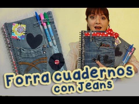 Forra y Decora los  Cuadernos con Jeans Mezclilla :: Chuladas Creativas :: Manualidades