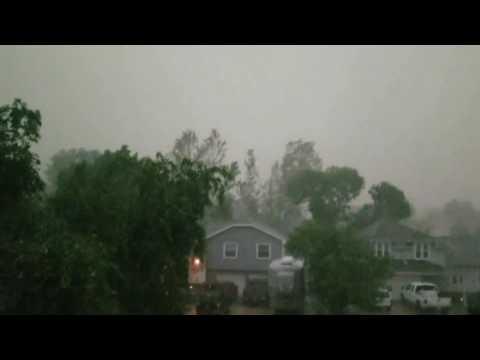 Strong Storm (Confirmed Tornadic) Bellevue, NE (6/16/2017) Part 2