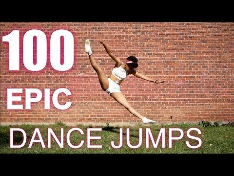 100 Epic Dance Jumps....how Many Can You Do? #dancerchallenge