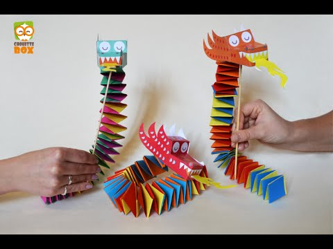 DIY FLash - How to make a Paper Dragon !