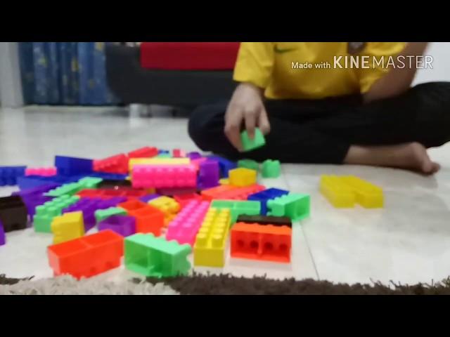Cara membuat mall lantai tiga (3) dengan balok susun
