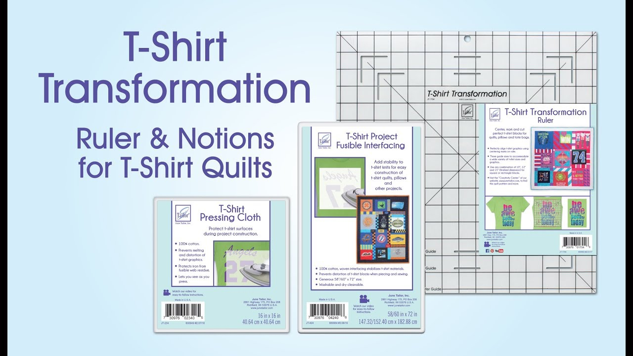 June Tailor T Shirt Quilting Ruler And Products Youtube