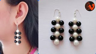 How to Make Beaded Earrings / DIY / Beginners / Design 6