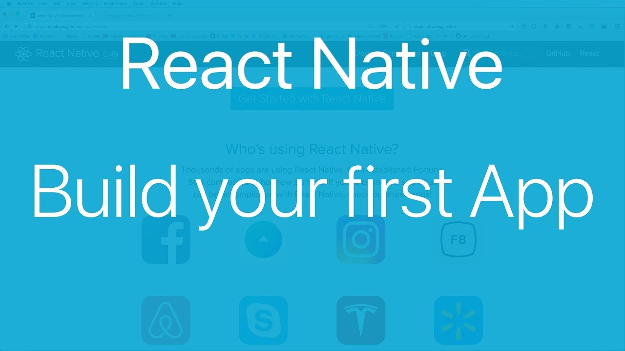 01-Build your first React Native app