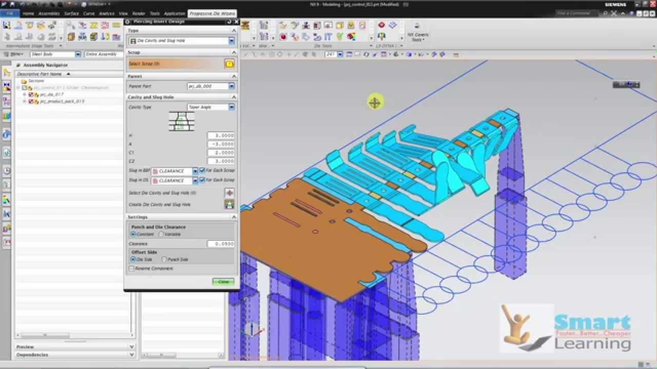 Nx10 Progressive Die Design Press Tool Design Die Making