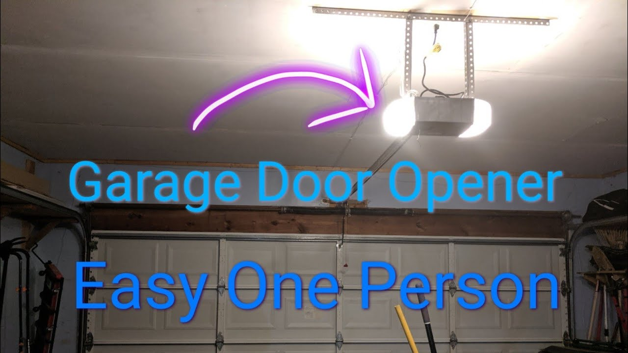 Genie Garage Door Opener Install With One Person Easy Youtube