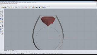 Baguette diamond ring designed using rhino 3d software Part 1