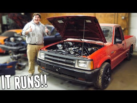 The V8 Swapped Drift Truck FINALLY RUNS!!! - It Sounds INCREDIBLE!