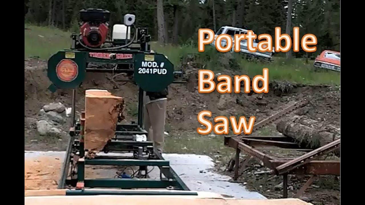 Bandsaw Mill For Sale >> Portable Band Saw Mill Cutting Cedar Youtube