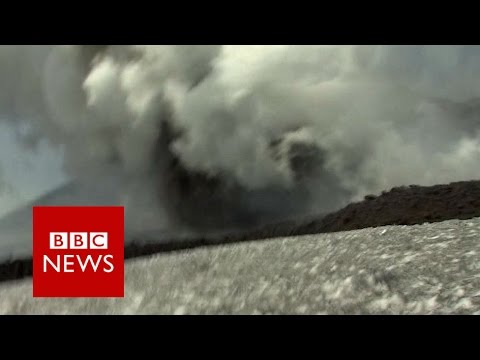 Moment BBC crew caught up in Mount Etna volcano eruption - BBC News