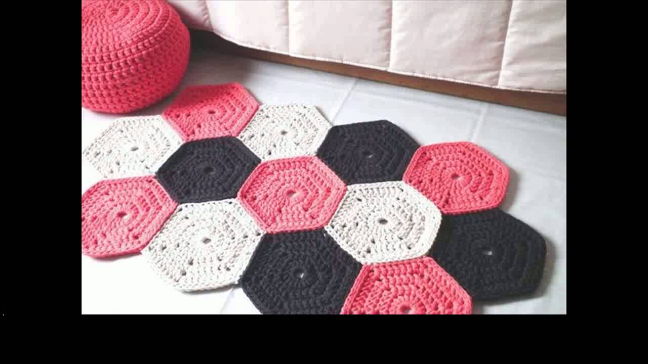 easy crochet rug free patterns - YouTube